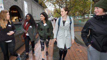 Bobbi Mahlab (third from left) started Mentor Walks to provide a boost for women in business.
