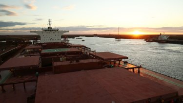 Fortescue's port facility at Port Hedland, Western Australia.