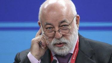 Viktor Vekselberg attends the St Petersburg International Economic Forum in St Petersburg, Russia, on Friday.