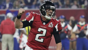 Making it rain: Falcons quarterback Matt Ryan.