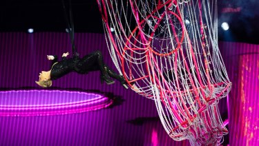 The show features Pink's trademark acrobatics which have made her tours such a phenomenal success in Australia.