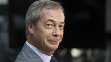 Now what? Nigel Farage, former leader of the UK Independence Party, is being brought to Australia by the same company that until recently was co-owned by an alleged illegal drug trafficker.