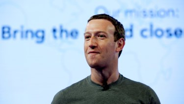 Facebook chief executive Mark Zuckerberg.