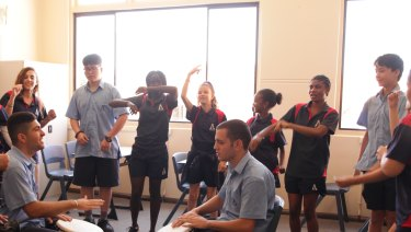 The song Same drum and its video were created in a series of workshops at Aranmore Catholic College's Intensive English Centre.