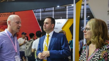 Minister for Trade Steven Ciobo at the Shanghai Food Industry Expo  last week.
