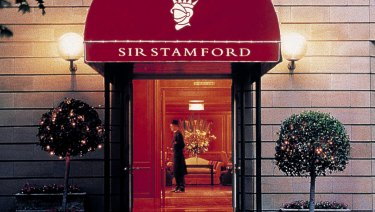 Sir Stamford at Circular Quay, where Ron Medich's daughter and her partner allegedly used a stolen credit card to check into the lavish presidential suite.