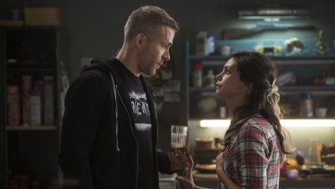 Love bubble burst: Ryan Reynolds, left, and Morena Baccarin in the first Deadpool.