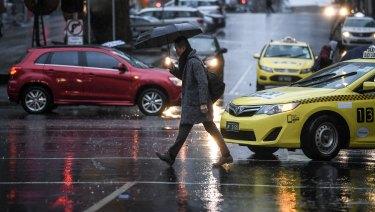 Wild weather sweeps across Melbourne.