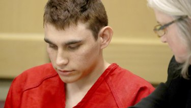 Nikolas Cruz appears in court for a status hearing before Broward Circuit Judge Elizabeth Scherer in Fort Lauderdale, Florida.