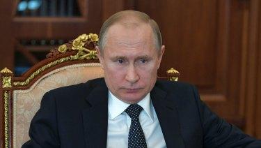 Russian President Vladimir Putin last Tuesday.