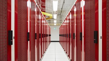 The red room at NextDC S1 data centre in Sydney.
