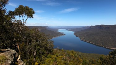 Lake Burragorang, behind Warragamba Dam, Sydney's main reservoir.