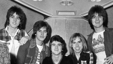 The Bay City Rollers (from left) Stuart 'Woody' Wood, Alan Longmuir, Leslie McKeown, Derek Longmuir and Eric Faulkner in 1975.