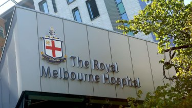 Staff at Royal Melbourne Hospital have released a video showing CCTV footage of violent incidents involving patients.