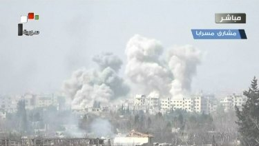 The Syrian government has stepped up its offence on Ghouta.