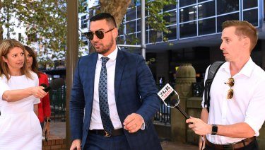 Salim Mehajer arrives at Sydney's Central Local Court on April 11.