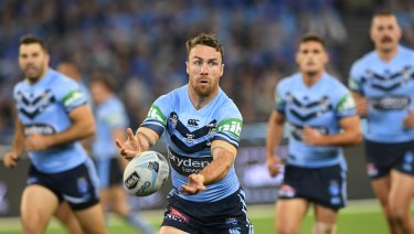 King James: In a team of rookies, the Blues' oldest player, James Maloney, will be their most important in game two.