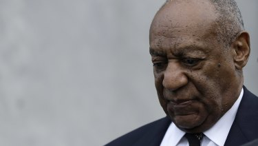 Bill Cosby departs after his sexual assault retrial in Norristown, Pennsylvania.