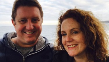 Scott Olive and his wife Tiane both work in the pokies industry, creating games exclusively for Aristocrat.