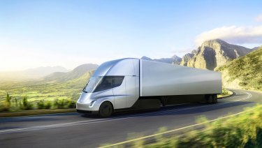 The Tesla electric truck.