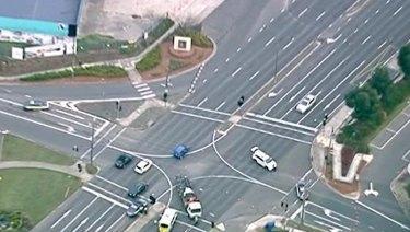 The intersection after the accident.