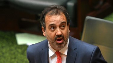 The Attorney General Martin Pakula at the debate on euthanasia. 17 October 2017. The Age News. Photo: Eddie Jim.
