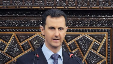 Syrian President Bashar Assad in Damascus in 2013.