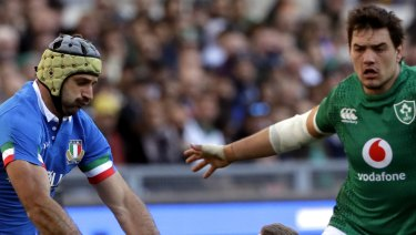 Fightback: Italy led at half-time before Sean Cronin's Ireland found their mojo to keep their campaign alive.