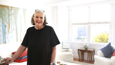 Patricia Skenridge, 81, at her Potts Point apartment where she lives independently near healthcare should she need it.