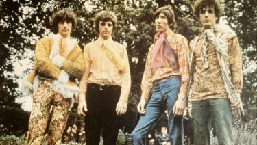 Legendary rock band Pink Floyd pictured in the 1960s, with Roger Waters at centre right.