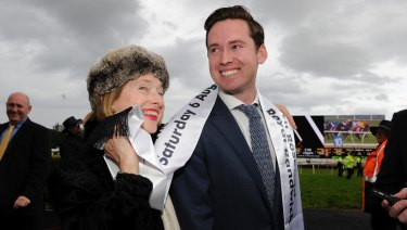 Co-trainers Gai Waterhouse and Adrian Bott are hoping to be all smiles after the Golden Slipper.