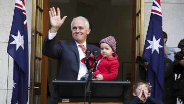 Malcolm Turnbull had a dig at the Coalition's position on climate change during his final press conference as prime minister.