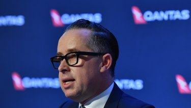 Flying high: CEO Alan Joyce is expanding Qantas' international business.