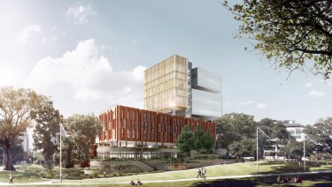 An artist impression of the new Inner Sydney High School.