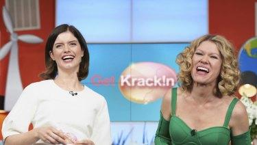 <i>Get Krack!n</I> spoofs the hyperbole of morning television.