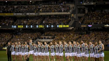 Last season's preliminary final between Collingwood and Richmond at the MCG was about 6000 people short of capacity because of empty seats in the MCC members' reserve.