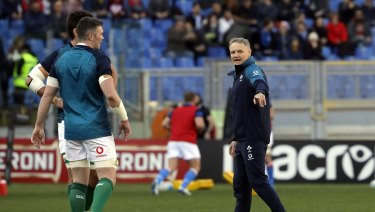 In the hunt: Ireland coach Joe Schmidt says the door is not completely closed on back-to-back Six Nations crowns for his troops.