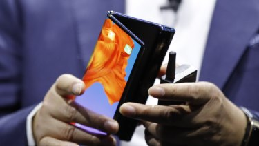 Huawei's new Mate X foldable 5G smartphone.