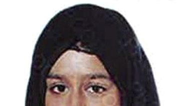 This undated photo issued by the Metropolitan Police shows Shamima Begum, who ran away from Britain as a teenager to join Islamic State extremists in Syria four years ago.