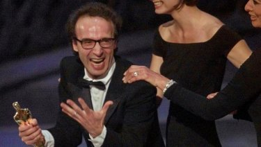Roberto Benigni's exuberance upon winning the best foreign language film award in 1999 (for Life is Beautiful) is one of the great Oscar moments. More please.