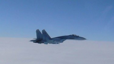 A Russian SU-27.