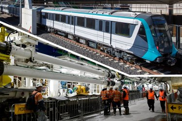 Kathleen lies ready to dig first rail tunnels under Sydney Harbour