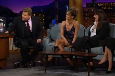 Halle Berry discusses her new tattoo on The Late Late Show with James Corden