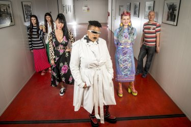 Jess (left) and Stef Dadon, Kristy Dickinson, Ntombi Moyo, Nixi Killick and Michael Reason have been picked to choose archive garments for VAMF's <i>Fashion Redux</I>.