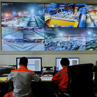 The night shift at Chongqing Western Logistics.