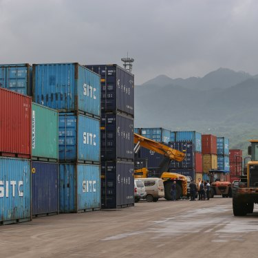 A logistics centre at Chongqing's port,   connecting the Yangtze and the Belt and Road regions.