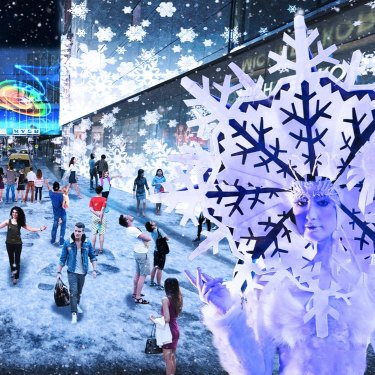 What Snow Lane was meant to be like according to an artist's impression.