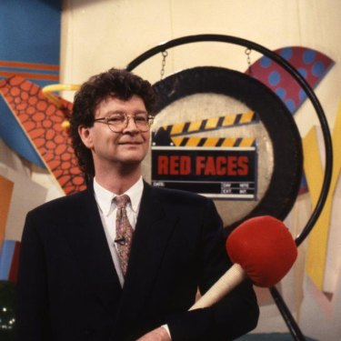 "As a judge on Hey Hey It's Saturday's Red Faces ""talent"" segment."