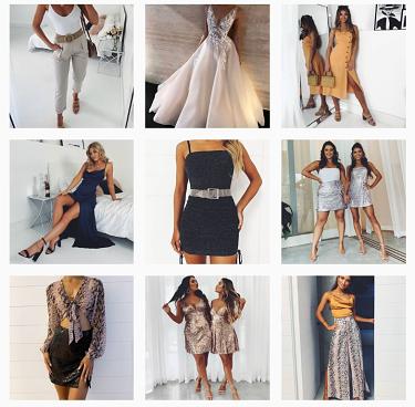 Online fashion retailer Showpo's Instagram feed.