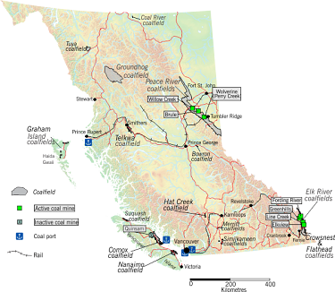 Coal projects in British Columbia.